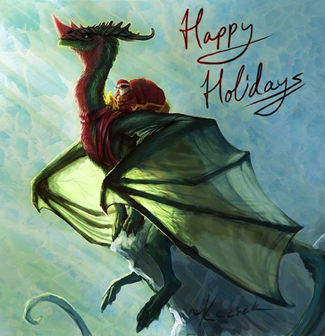 dragon Santa